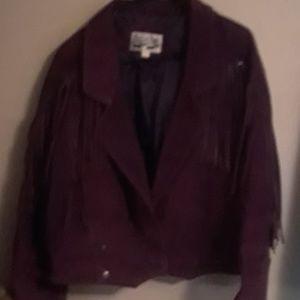 Vintage fringed suede jacket